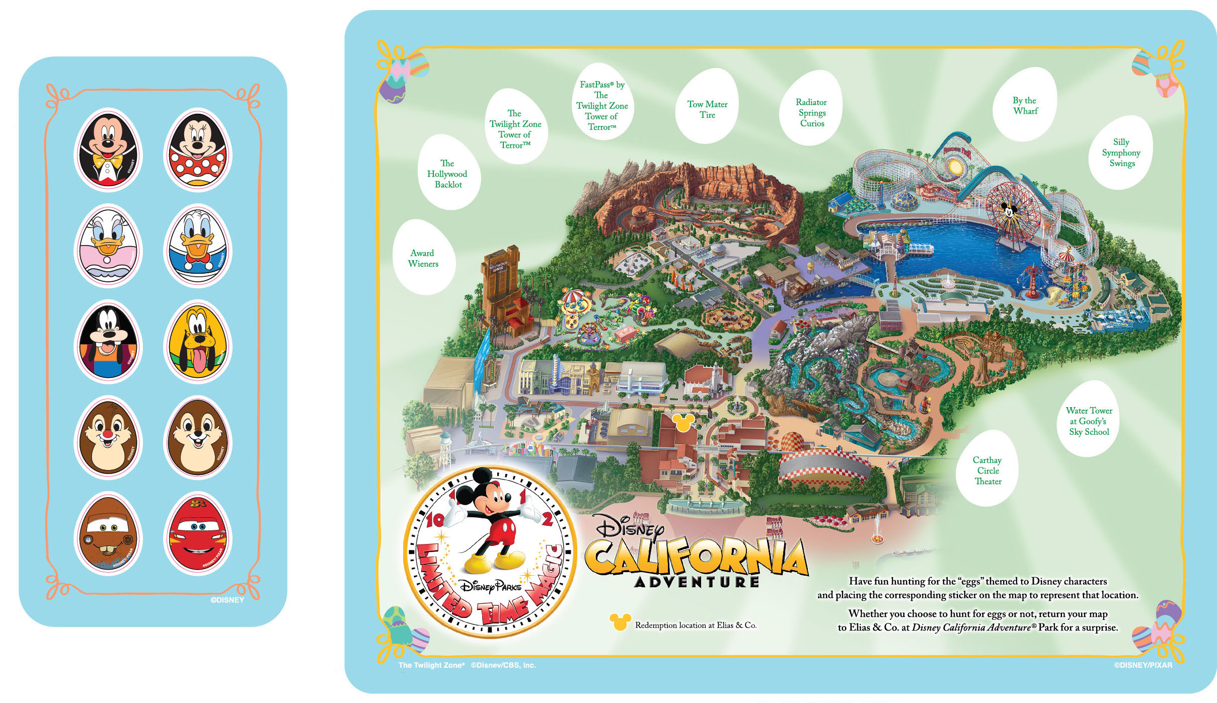 Map Of California Disney.Disney S California Adventure Park Easter Egg Hunt Be Inspired