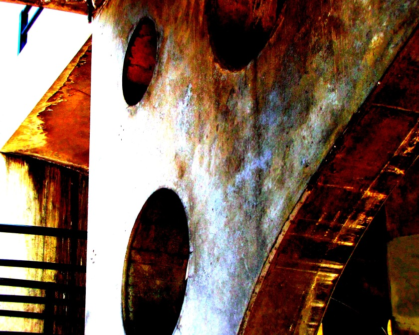 S.Gates...concrete structure2 digital photograph 18 x 24