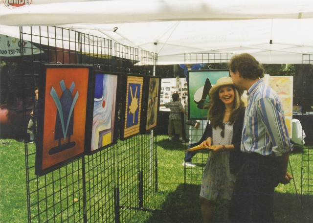 David W. Douthat booth at art festival 1996 ok