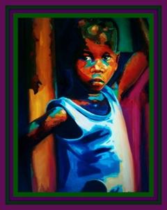 Marv L. Roussan Girl in Blue Dress DSC00149-001