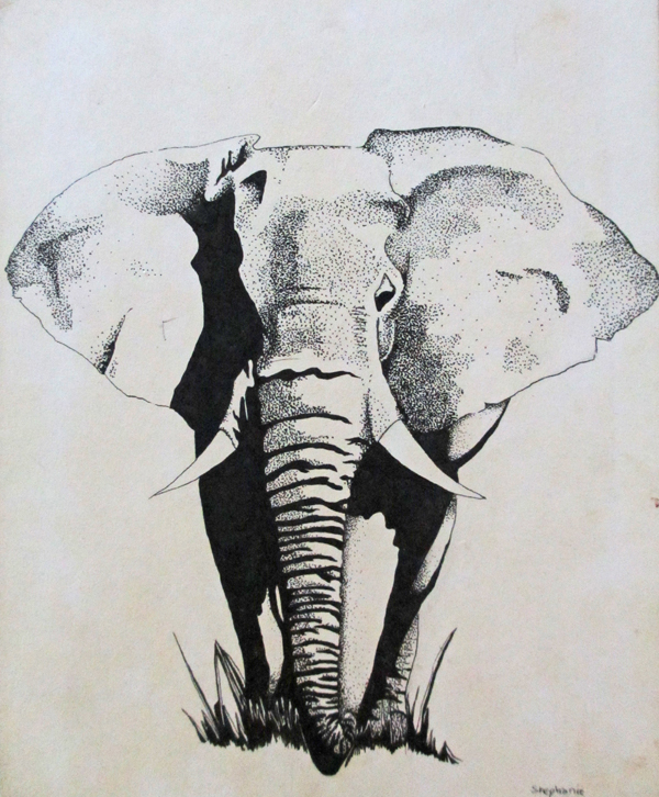Stephanie H. Elephant - younger years