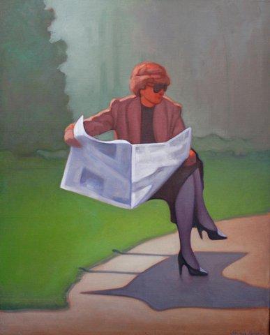 Sami Gjuka Career Woman oil on canvas 80 x 100 cm