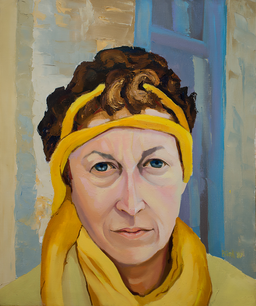 Jennifer Bilek Portrait of Linda Montano - Yellow #1