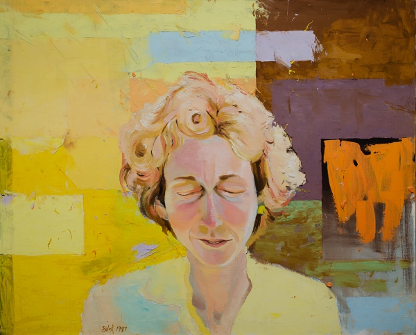 Jennifer Bilek Portrait of Linda Montano-Yellow #2