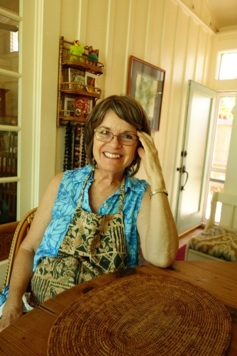 Angela in her home in Hanapepe