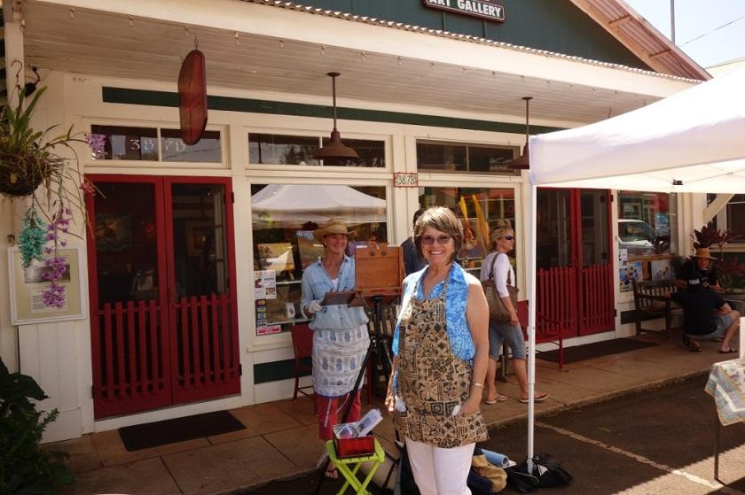 Jennifer   Plein Air Painting at the Orchid Festival in Hanapepe Kauai Hi