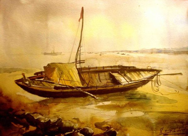 Satyajit Chanda 22 Title-After noonMedium- Water Colour on  Paper Size-30x20  (2)