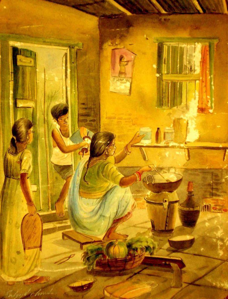 Satyajit Chanda 45 Title-My Chilhood TimeMedium-Water  Colour Size-12''x18'' (2)  02