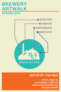 The Brewery Artwalk flyer April 2015