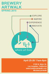 The Brewery Artwalk flyer April 2015