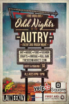 Odd Nights at the Autry Logo Flyer