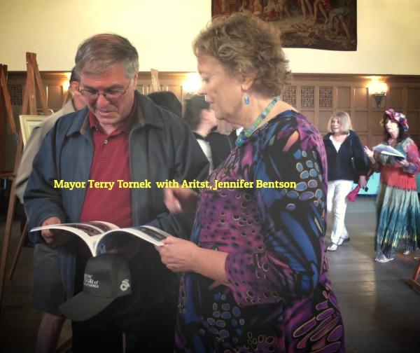 Jennifer Bentson and Mayor Terry Tornek