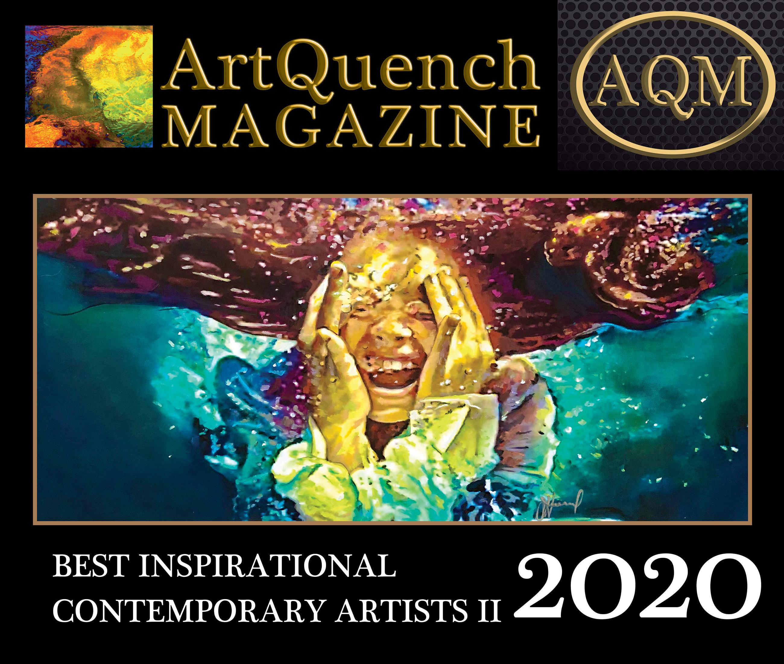 ArtQuench Magazine AQM Best Inspirational Contemporary Artists II 2020 Cover winner Julie Howard